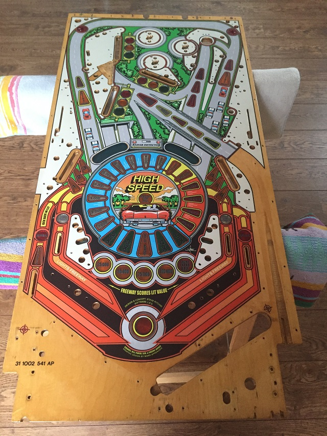 High Speed playfield clearcoat